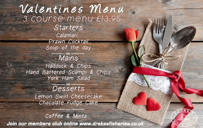 Drakes-Valentines menu